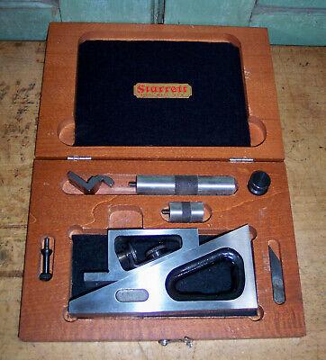 Vintage L.s. Starrett No.995 Planer Machinist Toolmaker Inspection Wwooden Box