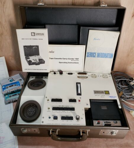 Norelco Model EL3302P Livermore Data systems Terminal Tester ii acoustic coupler