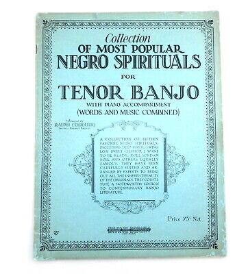 1927 Black Americana Most Popular 'Spirituals for Tenor Banjo' Irving Berlin F11 Pop Tenor Sheet Music