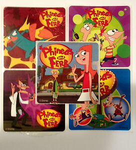 15 Phineas and Ferb Stickers Party Favor Teacher Supply