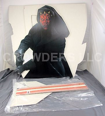 """Star Wars Episode 1 #331 Darth Maul Movie Theater Standee Never Assembled 54x71"""""""