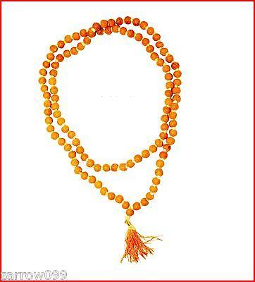 Turmeric Haldi Japa Mala 108+1 Beads Yoga Meditation Rosary Mala - USA Seller
