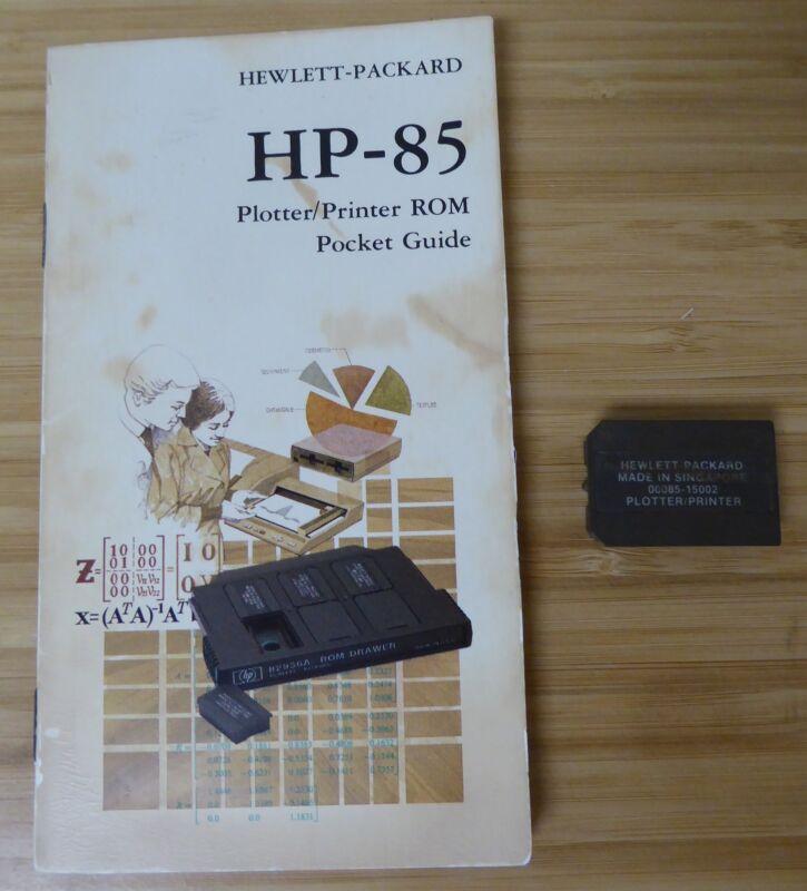Hewlett-Packard Plotter/Printer ROM 00085-15002 & ROM Pocket Guide