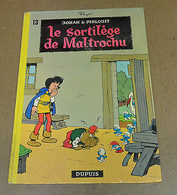 PEYO - JOHAN ET PIRLOUIT - 13 - LE SORTILEGE DE MALTROCHU - D. JAUNE 1973 - BE