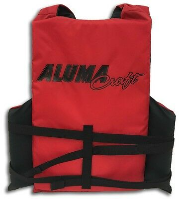 Alumacraft Adult Universal Red Life Jacket PFD 3-Buckle Type III USCG Approved   Buckle Type Iii Life Vest