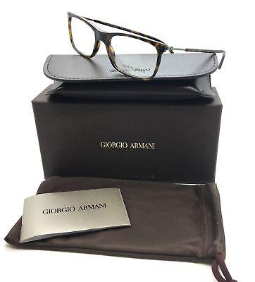 Giorgio Armani Tortoise Eyeglasses Ar 7085 5026 52 Mm Designer  Demo Lenses