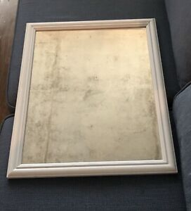 Mirror 18x22 in rustic white frame