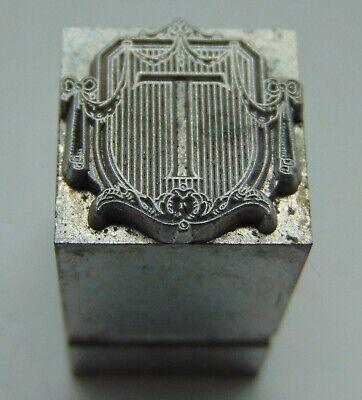 Vintage Printing Letterpress Printers Block Advertising Type Letter T