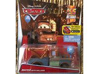 Disney Pixar Cars 2 MATER WITH BALLOON ~ #95 Returns ~ NIP