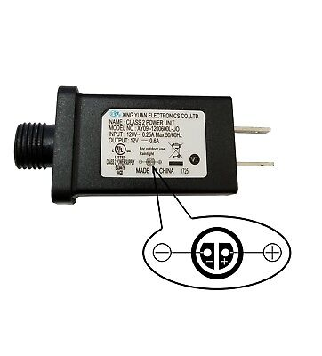 Inflatable Power Supply Adapter 12Vdc 0.6A 600mA 0.6Amp UL or ETL Adaptor AC/DC (Christmas Inflatable Power Supply)