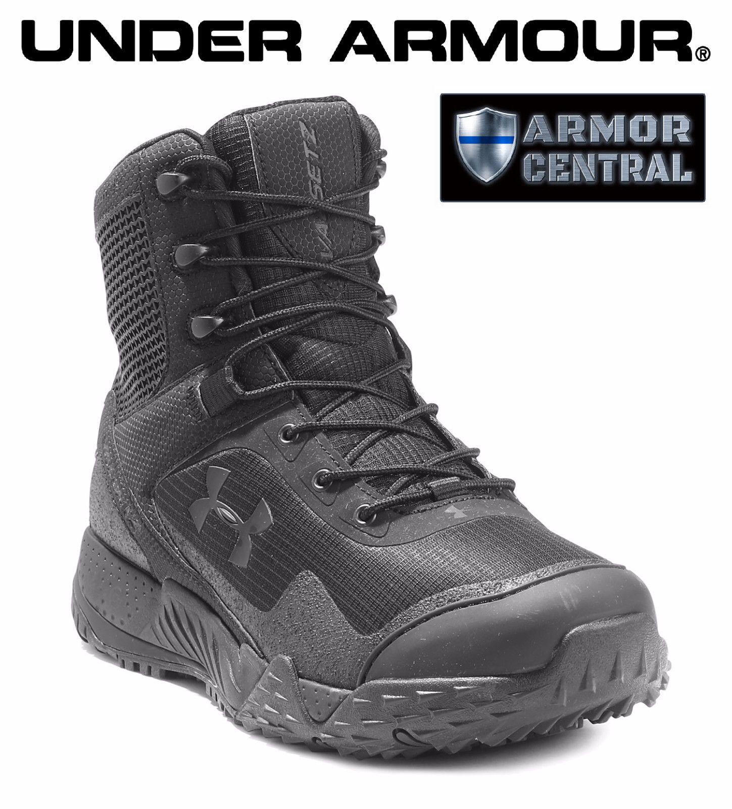 NEW Under Armour UA Men's Black VALSETZ 1.5 Tactical Side Zip Boots - 3021036