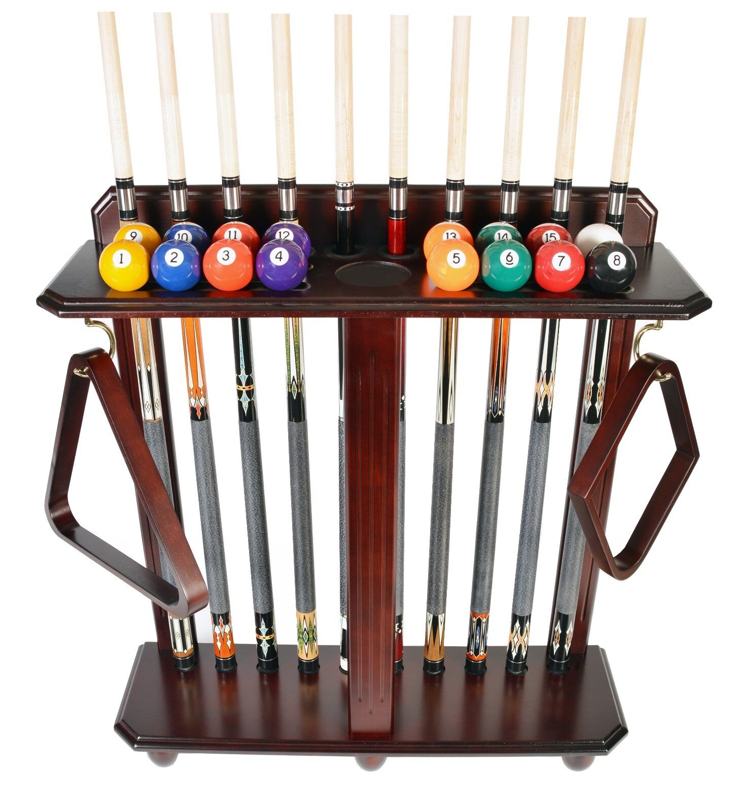 Cue Rack Only Iszy Billiards Billiard Stick /& Ball Set Floor Rack 10 Pool
