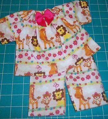 "Doll Clothes fit 12"" COROLLE MON PREMIER BEBE ZOO 2 piece pajamas"