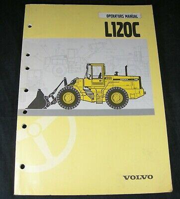 Volvo L120c Wheel Loader Tractor Operators Operation Maintenance Manual Book Oem