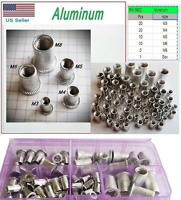 Kit Metric Rivet Nut Aluminum Rivnut Nutsert Assort M4 M5 M6 M8 65 Qt