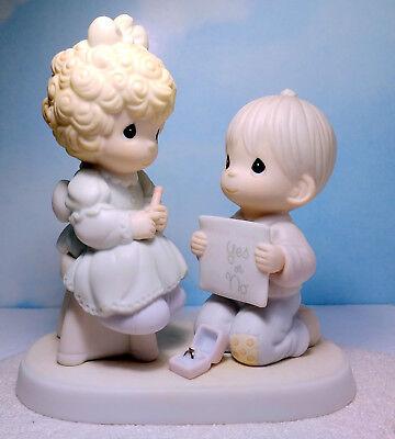 PRECIOUS MOMENTS COUPLE ENGAGEMENT RING Wishing You A Perfect Choice 520845 NIB