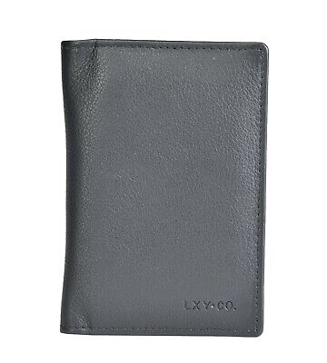 LXY & Co. Classic Top Grain Leather RFID Blocking Men's Card Case Bifold Wallet