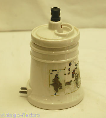 Old Vintage Hankscraft Ceramic Vaporizer Humidifier W Lid Novelty Medical Decor