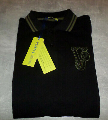 Versace Jeans Polo shirt. Brand New with tags. black  size 44 U.K S/M