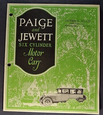 1925 Paige & Jewett Six Catalog Sales Brochure Nice Original 25