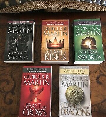 GAME OF THRONES : A SONG OF ICE & FIRE 1-5 PB lot set by George R.R. Martin