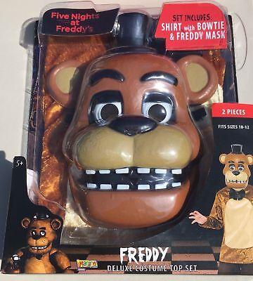 Five Nights at Freddy's Freddy Costume, Halloween kids scary Fazbear Pizza](Kids Pizza Costume)