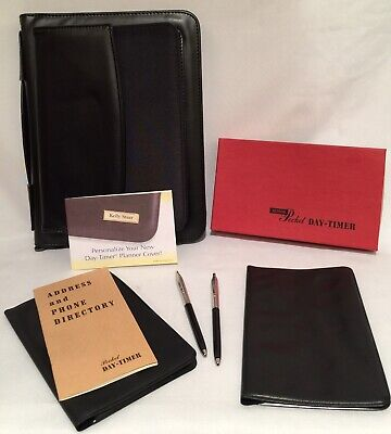 Day Timer Zippered Carrying Planner Binder Senior Pocket Day Time Planners