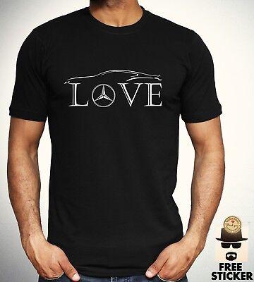 Mercedes Benz Love T shirt Car Racer Novelty Tee Gift F1 AMG New Top Men S - 4XL