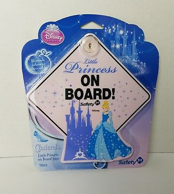 Disney Sparkle Princess On Board Sign Safety 1st New in Package