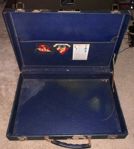 WWII / Korean War Era Suitcase w/ Squadron Decals 76th Fighter Named
