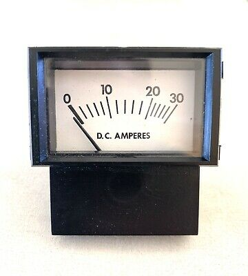 Made In Usa Prime Instruments - Analog Current Panel Meter Dc 30a Amp Ammeter