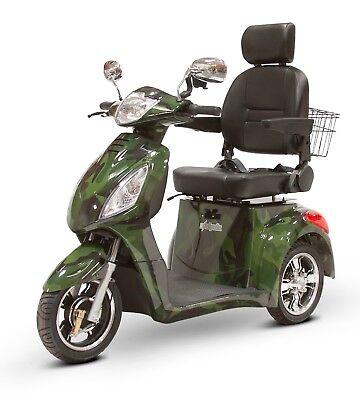 Green Camo Fast Mobility Scooter EWheels EW-36 Electric Battery 3 Wheel Sporty