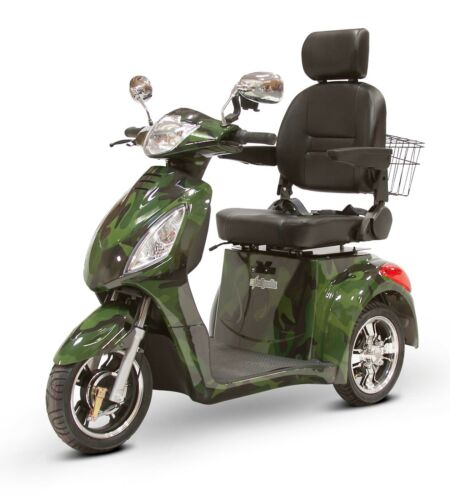 Green Camo Fast Mobility Scooter Ewheels Ew-36 Electric Battery 3 Wheel Sporty