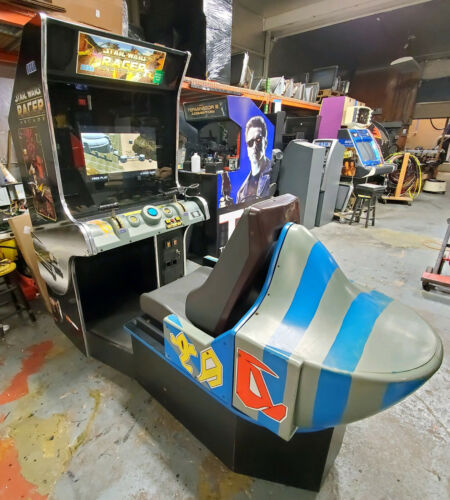 STAR WARS POD RACER Arcade Driving Racing Video Game Machine - WORKS GREAT! LCD!