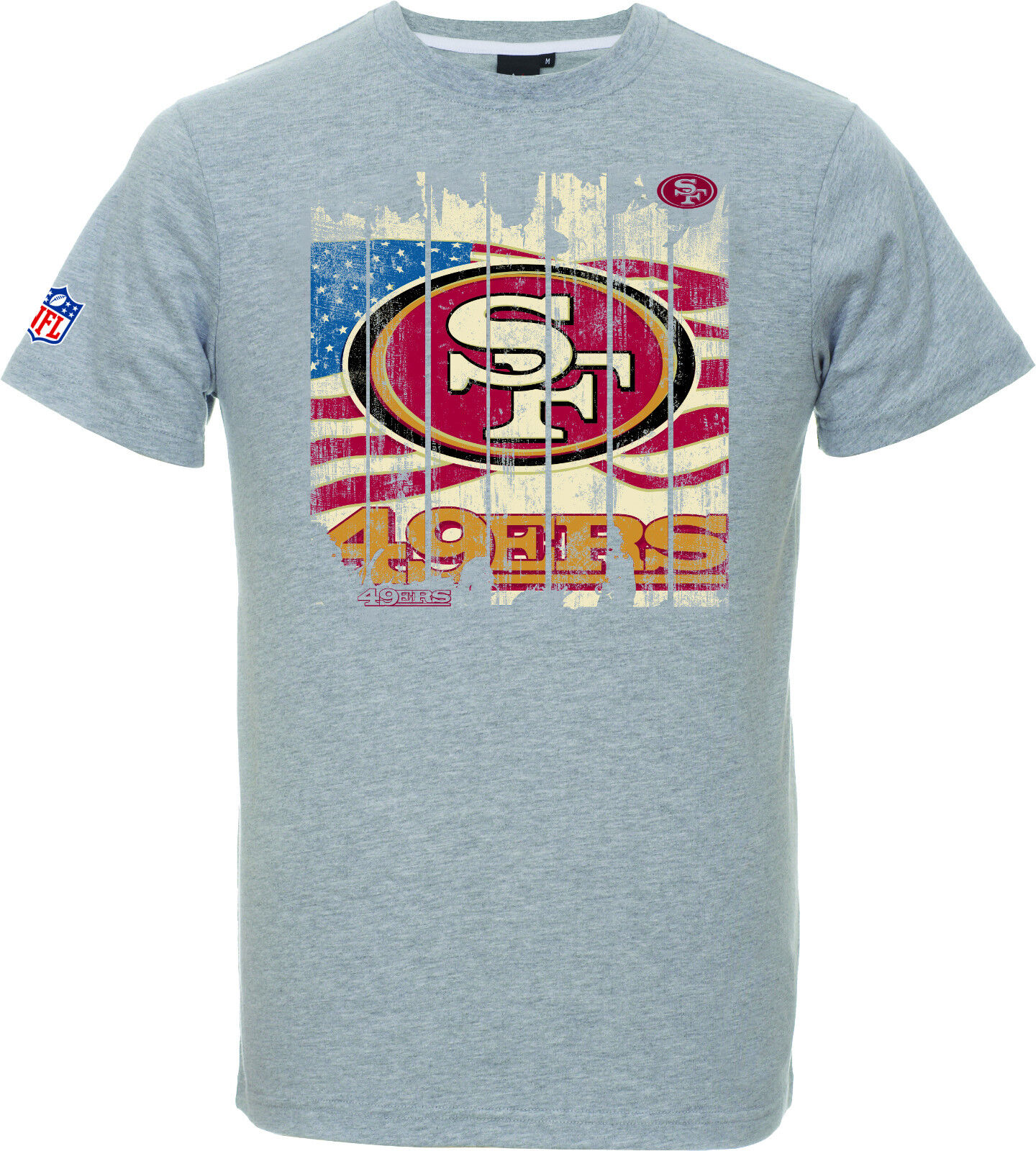 NFL T-Shirt San Francisco 49ers Picilo grau USA Flagge Football Majestic