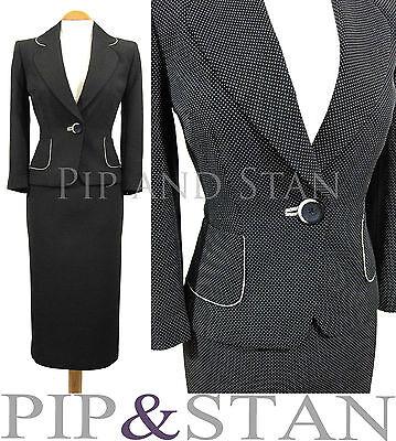 PRINCIPLES UK12/14 US8/10 BLACK PENCIL SKIRT SUIT 50S INSPIRED WOMEN LADIE SIZE