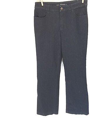 Chicos The Platinum Trouser Dark Wash Wide Leg Mid Rise Jeans Size 0.5