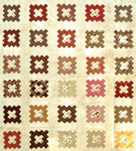 1850s-60s New York - Friendship Quilt Duvet Cover - Names, Dates, Ages, Villages