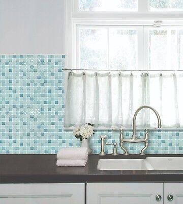 Bathroom Kitchen Wall Peel and Stick 2 Stickers Wallpaper Tile Mint Backsplash