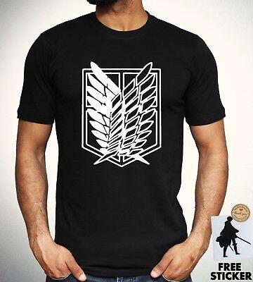 Attack On Titan T-Shirt Survey Corps Logo Mikasa Eren Ackerman Anime Tee unisex