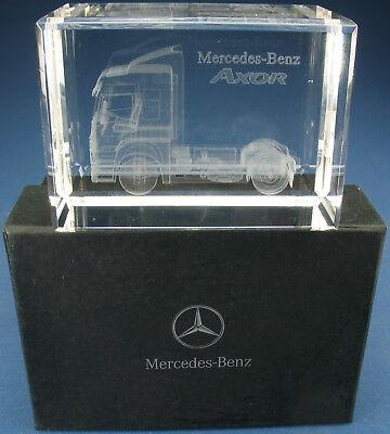 Kristallblock mit Lasergravur - Mercedes-Benz AXOR - B67872587 Kristall-Glas LKW
