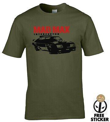 Mad Max Interceptor Car T-shirt Retro 80's Film Movie MENS Vintage QUALITY Tee
