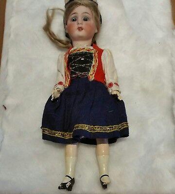 "7""  Antique pretty little Bisque & Compo Girl Doll"