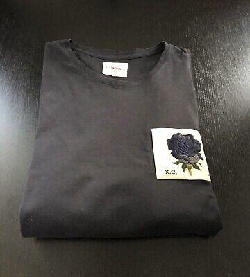 KENT & CURWEN Limited Edition Navy Long Sleeve Cotton T-shirt English Rose XL