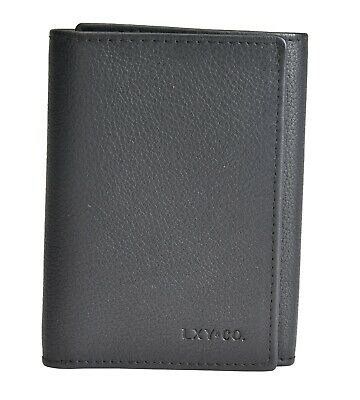 LXY & Co. Classic Natural Top Grain Leather RFID Blocking Men's Trifold Wallet