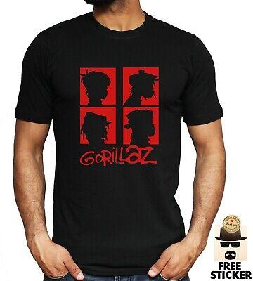NEW Gorillaz T-shirt Music Band 90's Hip Hop Rock Festival Adult Kids Unisex Tee