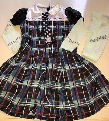 Stein Halloween Costume Dress Up Size Girls Large 10-12 (Girls Monster High Frankie Stein Kostüm)