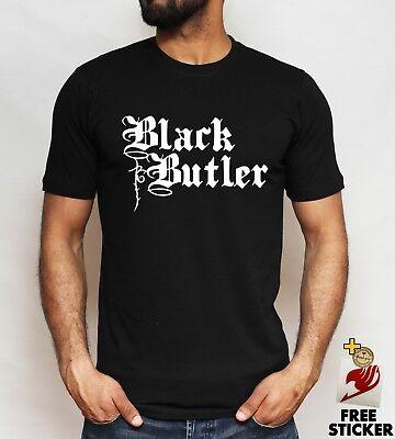 Black Butler Logo T Shirt Sebastian Ciel Yes My Lord Anime Unisex Tee S - 4XL