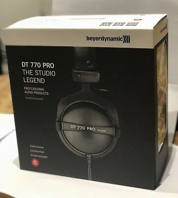 Genuine Beyerdynamic DT 770 PRO Studio Headphones - 80 Ohm