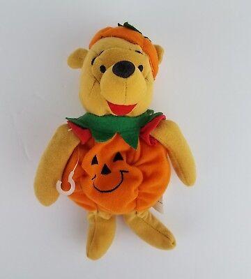 Disney Winnie the Pooh Halloween Pumpkin Bean Bag Small Plush 8